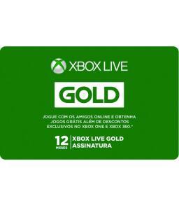 Gift Card Digital Xbox Live 12 Meses - R$ 119,20