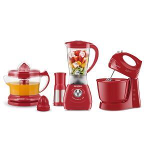 Conjunto Especial Mondial Gourmet Red II 220V - R$127