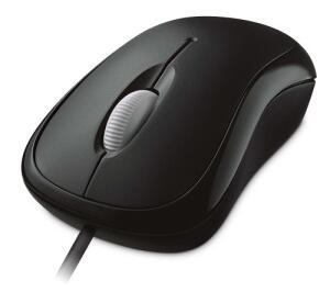 Mouse Optical Basic Com Fio Usb Preto Microsoft - P5800061 R$ 30