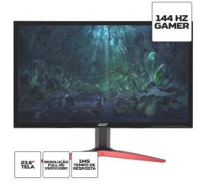 "Monitor Gamer, Acer, KG241Q P, 23.6"", Full HD, 144Hz, 1ms, HDMI, DVI, Display   R$1.149"