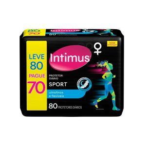 Protetor Diário Intimus Sport Ultrafino - 80 Unidades | R$13