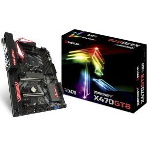 Placa Mãe Biostar Racing X470GT8, Chipset X470, AMD AM4, ATX, DDR4 | R$699