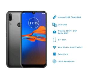 Smartphone Motorola E6 Plus 32GB Cinza 4G 2GB RAM