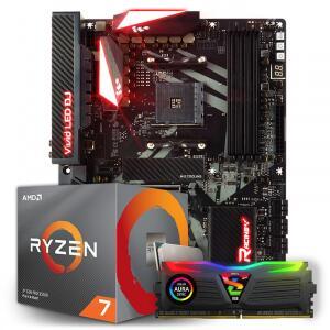 RYZEN 3700X + BIOSTAR RACING X470GT8 + GEIL SUPER LUCE RGB, 8GB 3000MHZ - R$2399