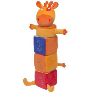 Girafa Amiga Pirâmide - Antialérgico - Colorido - 38 Cm - Cas Brinquedos