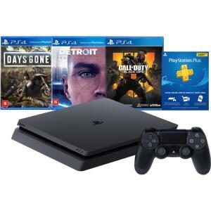 [Cartão] Console Playstation 4 1 Tb Hits Bundle Edição 5.1 - PS4 | R$1799