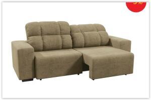 Sofá 4 Lugares Linoforte Versalhes com Assento Retrátil R$ 760