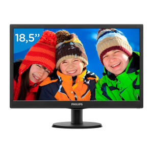 "Monitor Philips 18,5"" LED HD VGA Widescreen 193V5LSB2 R$ 259"