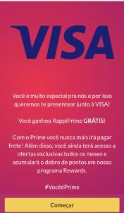 [Usuários Selecionados] Rappi Prime Grátis com Visa