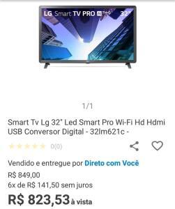 Smartv LG 32 led smart pro Wi-Fi
