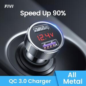 Carregador veicular com Quick Charge 3.0 | R$24