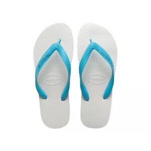 Sandálias Havaianas Tradicional - Azul Claro e Branco