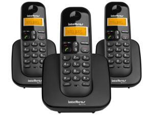[Clube da Lu] Telefone Sem Fio Intelbras TS 3113 + 2 Ramais | R$184