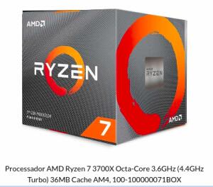 Processador RYZEN 7 3700X OCTA-CORE 3.6GHZ | R$ 1500
