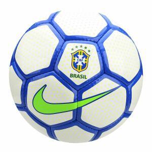 Bola de Futebol Society Nike CBF - Branco e Azul   R$102