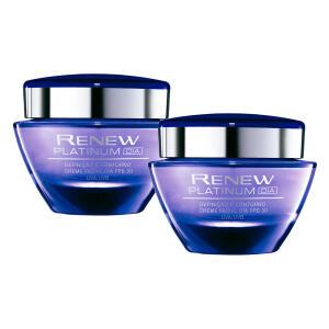 Kit Creme Facial Renew Platinum FPS 30 Dia 2x50g