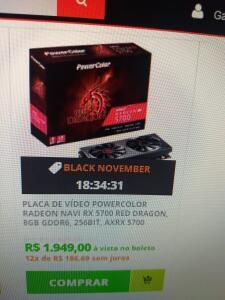 POWERCOLOR RADEON NAVI RX 5700 RED DRAGON