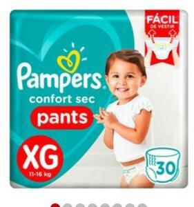 Fraldas Pampers confort sec PANTS XG 30 tiras