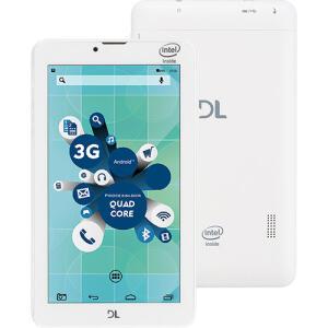 "Tablet DL Socialphone 700 8GB Tela 7"" Processador Intel 3G Dual Chip - Branco"