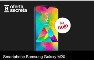 "Smartphone Samsung Galaxy M20 64GB Dual Chip Android 9.0 Tela 6.3"" Octa-Core 4G Câmera 13MP + 5MP - Preto"