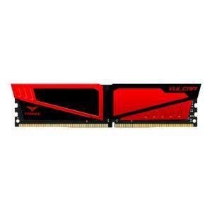 MEMÓRIA TEAM GROUP T-FORCE VULCAN 8GB (1X8) 3000MHZ DDR4 VERMELHA, TLRED48G3000HC16C01