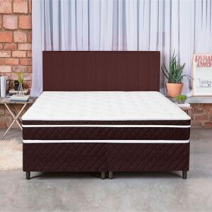(AME R$805 de volta) Cama Box Colchão King Pillow Top Mola Ensacada e Espuma Selada Confort 193x203x79cm R$1.610