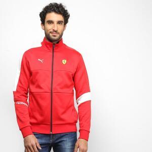 Jaqueta Puma Sf T7 Track Masculina - Vermelho   R$260