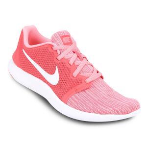 Tênis Nike Flex Contact 2 Feminino - Rosa e Branco | R$150