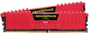 MEMORIA CORSAIR VENGEANCE LPX 4GB (1X4) DDR4 2400MHZ VERMELHA, CMK4GX4M1A2400C16R