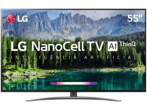 "Smart TV LED 55"" LG SM8600 NanoCell 4K, IPS, HDR com Dolby Vision - Atmos, WebOS 4.5, Inteligência Artificial"