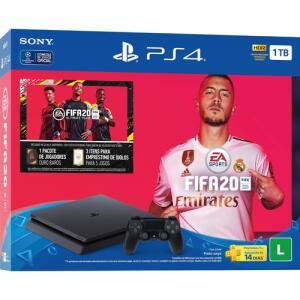[R$ 1.180,00 no AME] Console Playstation 4 TB Bundle FIFA 20
