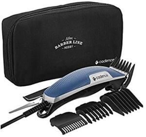 Máquina de Cortar Cabelo Barber Line com Necessaire, Cadence, CAB205-127, Azul e Cinza