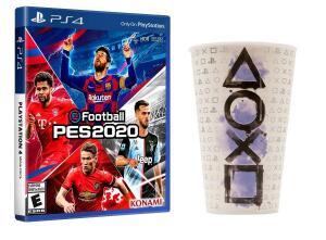 Game PES 2020 PS4 + Copo Oficial R$129