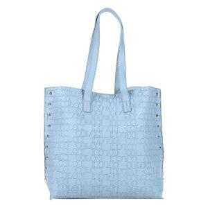 Bolsa Colcci Shopper Croco Tachas Feminina - Azul Claro R$93