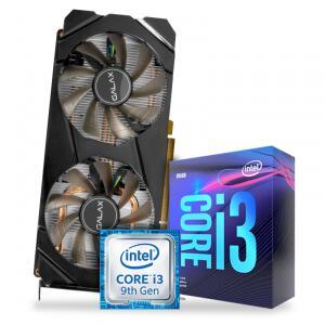 Kit Upgrade Processador Intel Core i3 9100F 3.6GHz + Placa de Video GeForce GTX 1660 6GB