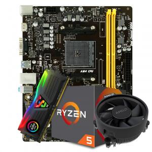 Kit Upgrade Placa Mãe Biostar B450MH + Processador AMD Ryzen + Memória DDR4 R$1100