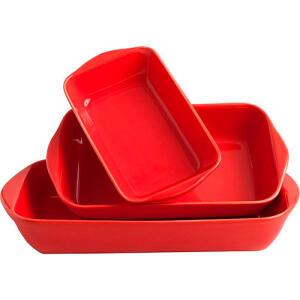Kit com 3 Travessas Retangular La Cuisine R$ 36