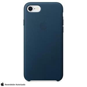 Capa para iPhone 7 e 8 de Couro Azul-Cosmos - Apple - MQHF2ZM/A - R$129