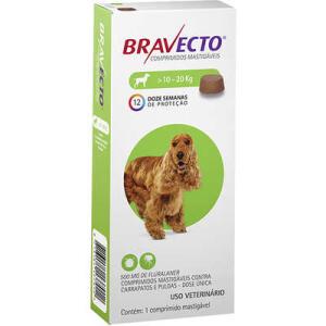 Antipulgas e Carrapatos MSD Bravecto para Cães de 10 a 20 Kg - R$176