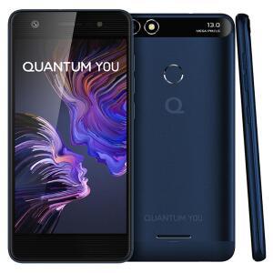 Smartphone Quantum You Azul 32GB + 3GB RAM   R$424