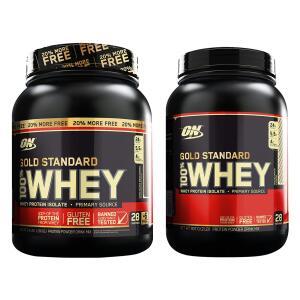 Kit 1 Whey Protein 100% 1.09kg + 1 Whey Protein 100% 907 G - Optimum Nutrition 2