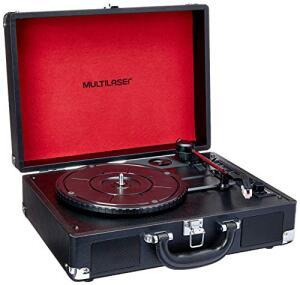 Caixa de Som Vitrola Vinil com Recorder- SP267 R$ 245