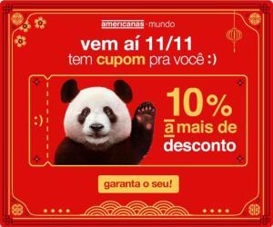 [Americanas] Cupom +10% OFF nos produtos importados do festival do dia 11.11