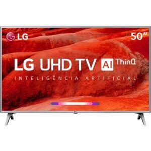 "(R$500 de volta no AME) Smart TV LED 50"" LG 50UM7510PSB Ultra HD Thinq AI Conversor Digital Integrado Wi-Fi 4 HDMI 2 USB PiP R$1.950"