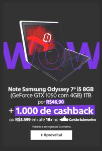 Notebook Samsung Odyssey
