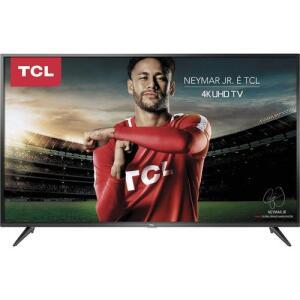 """[Ame 2447,56 CC Sub] Smart TV LED 65"""" TCL P65US Ultra HD 4K HDR 65P65US com Wifi Integrado 3 HMDI 2 USB R$3059"""