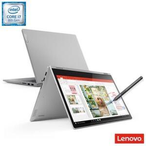 "Notebook Lenovo 2 em 1 ideapad C340 i7-8565U 8GB 256GB SSD com Digital Pen Win10 14"" FHD IPS - 81RL0001BR R$3.505"