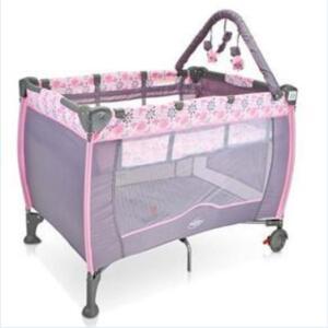 Berço Plus Portátil com Trocador Baby Style Mobile Flores - Rosa
