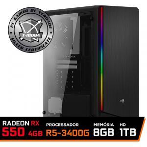 Pc Gamer Ultimate LVL-1 AMD Ryzen 5 3400G / Radeon Rx 550 4GB / DDR4 8GB / HD 1TB