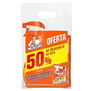 Limpador Cozinha Total Pack Gatilho 500 ml + Refil 500 ml, Mr. Músculo, pacote de 2